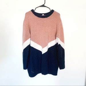 Forever 21 Color-block Sweater Dress
